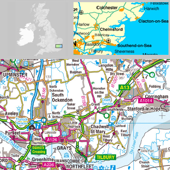within our area are Aveley, Bulphan, Chadwell (St Mary), Corringham ...: http://www.thurrock-history.org.uk/whereis.htm